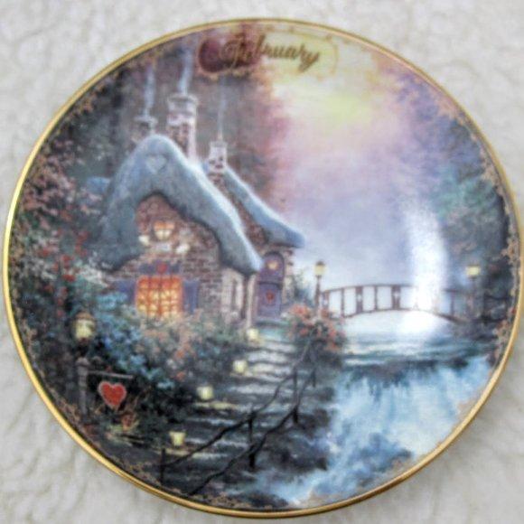 Thomas Kinkade February Collector Plate